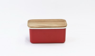 DEEP STORAGE CONTAINER M (STACKABLE) RED