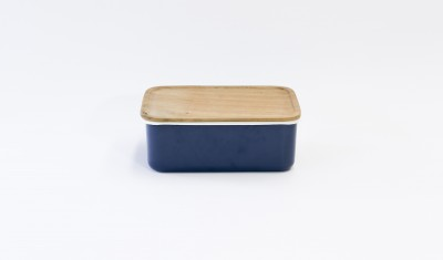 ENAMEL DEEP STORAGE CONTAINER XL (STACKABLE) NAVY