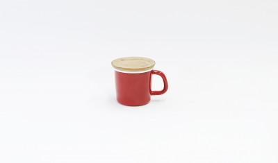 MUG CUP WITH LID RED